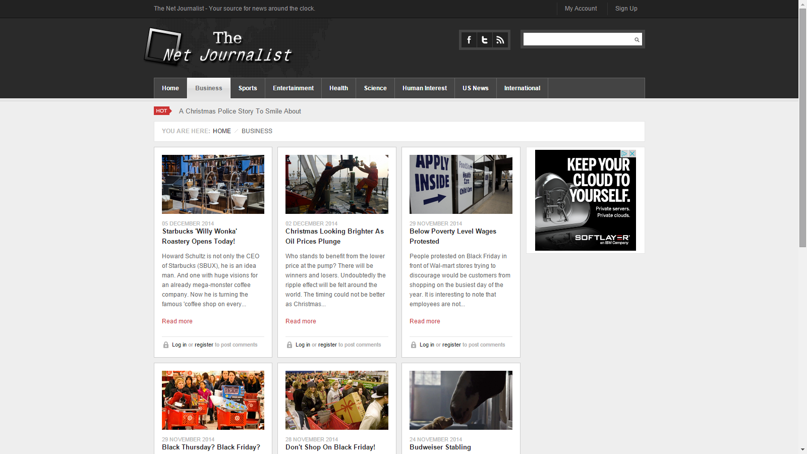 The Net Journalist News Page